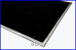 Hochwertiges Vollflächeninduktionskochfeld Edelstahlrahmen 80 cm Octa Spulen