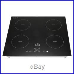 Home Kitchen 60cm 23 Electric Induction Plate Hob Ceramic 4 Burner Cook top US