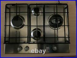 Hotpoint GB6401RX 65cm 4 Burner Stainless Steel Gas Hob + 1 Year Warranty (New)