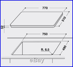 Ignis Induktionskochfeld 80cm Autark rahmenlos 77cm Booster Timer Turbo Booster