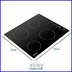 Indesit RI860C 58cm Rotary Control Four Zone Ceramic Hob