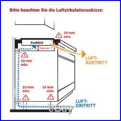 Induktionskochfeld 59cm 4 Zonen SUPERKERAMIK rahmenlos SensorTouch KKT KOLBE