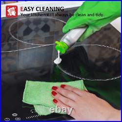 IsEasy 30Drop-in Electric Ceramic Cooktop, 4 Burner, Touch Control, Child Lock US