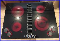Jenn Air 30 Electric Downdraft Cooktop Drop-In withNew Glass Top JED8430ADB LOOK