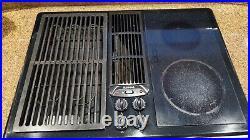 Jenn Air 30 Electric Downdraft Cooktop with Grill kit JED8230ADB