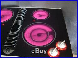 Jenn-Air 30 inch electric downdraft radiant glass cooktop black JED8430BDS