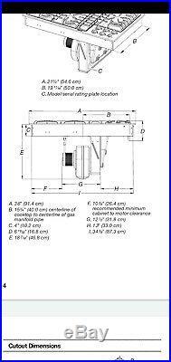 Jenn-Air 36 cooktop with downdraft Gas JGD3536WW01 jgd3536