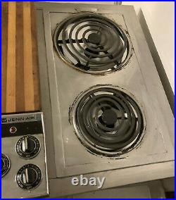 Jenn Air 47 Downdraft Electric Cooktop Stainless 3 Bay with Grill & Griddle C301