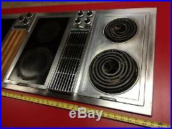 Jenn Air 48 3 Bay Downdraft Electric Convertible Cooktop Indoor Grill Cooktops Appliances
