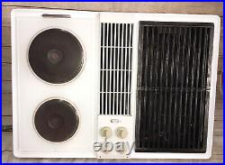 Jenn-Air C228W Cooktop Downdraft Electric White with Grill