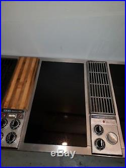 Jenn Air C301 Downdraft Triple 3 Bay Cooktop Stainless and Cartridges 48 inch