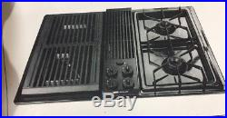 Jenn-Air CG200 BLACK Stainless Downdraft GAS Cooktop with GRILL INSERTS 30