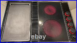 Jenn-Air CVEX4270B Expressions Electric Downdraft Cooktop withGriddle Glass TESTED