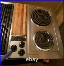 Jenn Air Cooktop 47 Downdraft C301 3 Bay Stainless with Grill and Griddle