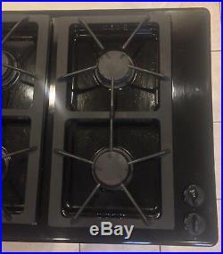 Jenn Air Designer Line 3 Bay Modular Black Gas Downdraft Cooktop W Grill 45