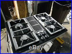 Jenn Air Downdraft Gas 30 Cooktop 4 Burners Grill & Griddle JGD8130ADB21