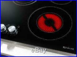 Jenn-Air JEC3536BS 36 Black Electric 5 Burner Cooktop withStainless Steel Frame