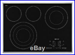 Jenn-Air JEC4430BS 30 4 Burner Black Electric Cooktop withStainless Steel Frame