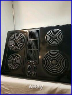 Jenn Air JED8130ADB Electric Downdraft Cooktop Stovetop Coil Black Cartridge