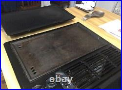 Jenn Air Stainless 30 Electric Downdraft Drop-in Cooktop withGrill & Covers