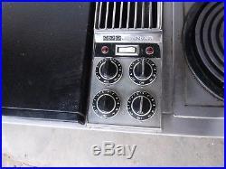 Jenn Air c301 downddraft 3 bay cooktop stainless