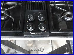 Jenn air black gas cooktop cg206b good condtion