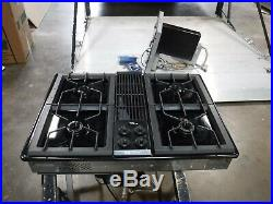 Jenn air black glass downdraft cooktop gas cg206b