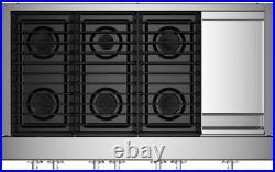 JennAir Noir JGCP548HM 48 Stainless Steel Gas 6-Burner Rangetop withGriddle