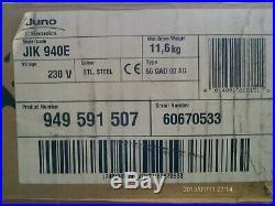 Juno Elektrolux JIK 940E Ceranfeld Kochplatte Edelstahl mit Touchbedienung