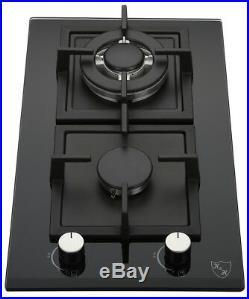 K&H 2 Burner 12 LPG/Propane Gas Glass Cooktop 2-GCW-LPG