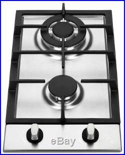 K&H 2 Burner 12 LPG/Propane Gas Stainless Steel Cooktop 2-SSW-LPG