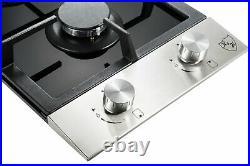 K&H 2 Burner 12 LPG/Propane Gas Stainless Steel/Glass Cooktop 2-GSSW-LPG