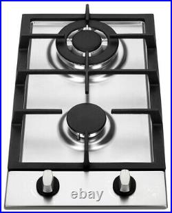 K&H 2 Burner 12 NATURAL Gas Stainless Steel Cooktop 2-SSW