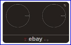 K&H 2 Burner 24 Induction SLIM Cooktop 24 Inch ETL 110V 1800W IN-DD18-120S