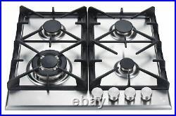 K&H 4 Burner 24 Built-in LPG Gas Stainless Steel Cast Iron Cooktop 4-24-SSW-LPG