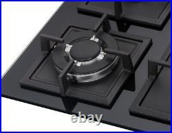 K&H 4 Burner 24 LPG/Propane Gas Glass Cooktop 4-GCW-LPG