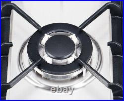 K&H 5 Burner 30 Built-in LPG Gas Stainless Steel Cast Iron Cooktop 5-30-SSW-LPG
