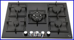 K/&H 5 Burner 30 NATURAL Gas Glass Cooktop 5-GCW