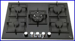 K&H 5 Burner 30 NATURAL Gas Glass Cooktop 5-GCW