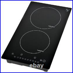 K&H Domino 2 Burner 12 Induction Ceramic Cooktop 220V INDV-3102