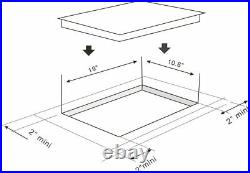 K&H Domino 2 FLEX Burner 12 Induction Ceramic Cooktop 220V INDV-38FX