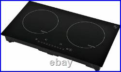 K&H Double Burner 24 Induction Ceramic Cooktop 220V INDH-3102Hx