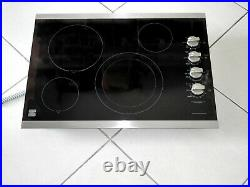 Kenmore Elite 79045113410 30 Electric Cooktop Black With Stainless Trim
