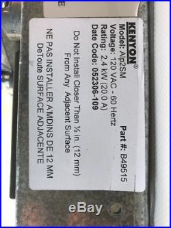 Kenyon Alp2SM White Two 2 6.5 Burner Electric Cooktop Part #B49515 FREE SHIP