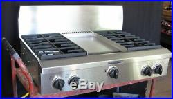 Kitchen-Aid 36 professional restaurant style gas cooktop stainless KGCP463KSS0