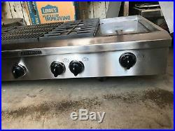 Kitchen Aid 48 Stainless Pro Gas/ Propane Rangetop 4+ grill and griddle in LA