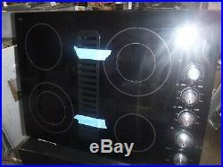 Kitchen aid kecd807xb downdraft cooktop black glass