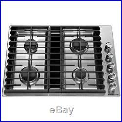 KitchenAid 30 Stainless Steel 4-Burner Gas Downdraft Cooktop