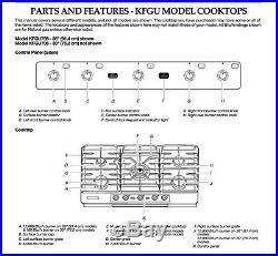 KitchenAid 36 5-Burner Gas Cooktop Stainless Steel Architect Series II KFGU766V