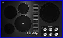 KitchenAid 36 Black Smoothtop Electric Cooktop with Downdraft Ventilation
